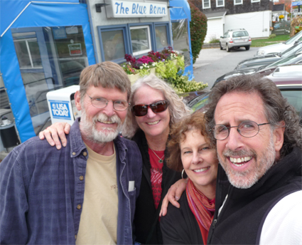 With Dennis and Karen at The Blue Benn Diner in Bennington, Vermont