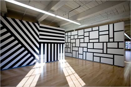 One of Sol Lewitt's works at the MASS MOCA
