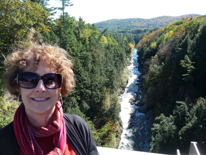 Carol at Vermont's Quechee Gorge