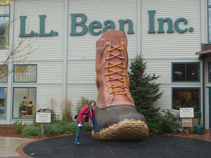 Carol at the L.L.Bean Outlet Mall