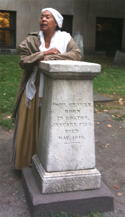 At the tomb of Paul Revere