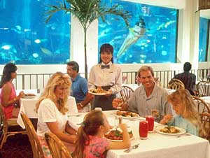 Oceanarium/restaurant at the Pacific Beach Hotel