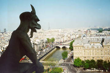 Gargoyle at the south tower of Notre Dame