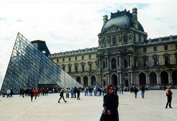 Carol at the Louvre