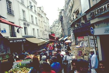 The markets of ancient Rue Mouffetard