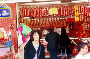 Carol in her favorite environment - a market in Paris