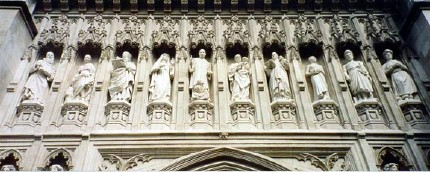 Frieze at Westminster abbey (Martin Luther King Jr is in the center)